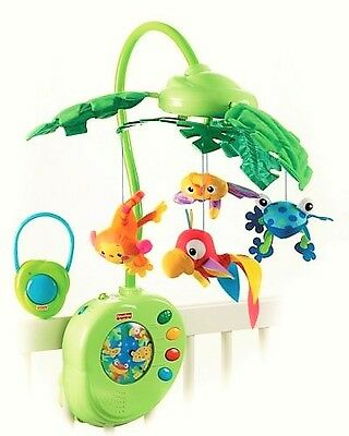 Fisher-Price Rainforest Peek-A-Boo Leaves Musical Mobile Classical Baby Player