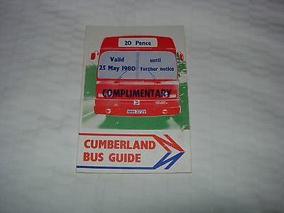 Cumberland Motor Services Bus Timetable  May 1980