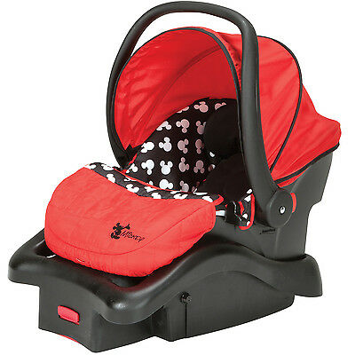 Disney Baby Light 'n Comfy Luxe Infant Car Seat, Mickey Silhouette