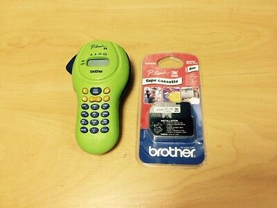 Brother P-Touch 55 PT-55 Compact Handheld Label Printer with new tape cassette