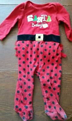 Santa baby outfit - size 9 months - preowned