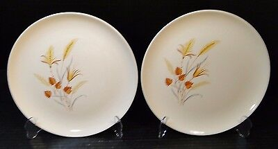"Taylor Smith Taylor Autumn Harvest Dinner Plates 10"" TWO EXCELLENT!"
