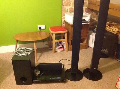 lg 5.1 surround sound dvd player ht554 sub woofer and  speakers