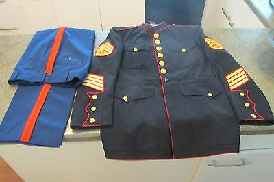Vintage Usmc Marine Corps Dress Blues Uniform