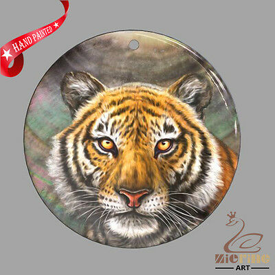 Creative Necklace Hand Painted Tiger Shell Pendant Zp30 01023