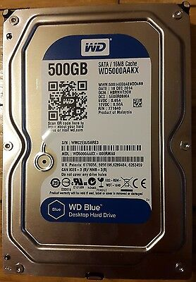 "Disque dur 3.5"" Western Digital Caviar Blue 500 Go SATA"