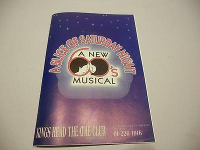 Vintage Signed Theatre Programme The Cast of 'A Slice of Saturday Night' 1989