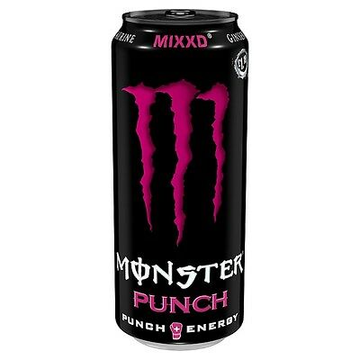 Monster Energy Mixxd Punch - Case Of 12 x 500ml Cans - Price Marked £1.19