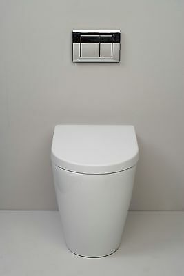 Compact Short Projection Comfort Height Rise Back to Wall toilet Soft Close Seat