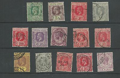 Sierra Leone George V collection 14 stamps