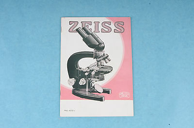 Vintage Original 1935 Carl Zeiss Jena Micro Organisms Microscope Dealer Catalog