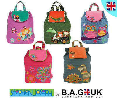 Stephen Joseph Children Signature Backpack School Nursery Rucksack Kids