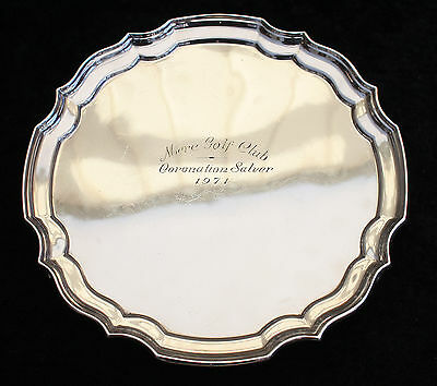 Silver Plated Salver With Inscription