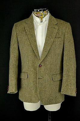 "BHS Harris Tweed Jacket size 42"" Short Green Brown"