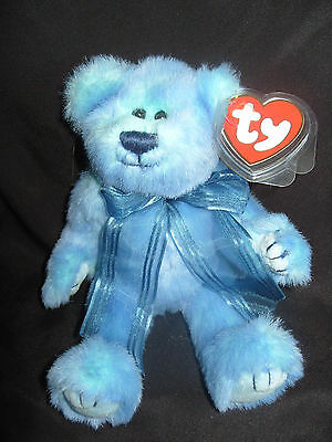 Ty Beanies Bear - Attic Treasures Azure With Tag