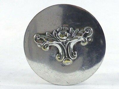 Silver Plated  Pill/ Patch Box- No Makers Mark- Art Nouveau Design
