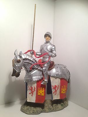 Vintage Chevalier/Knight Statue on Horseback with Lance, figure, medieval