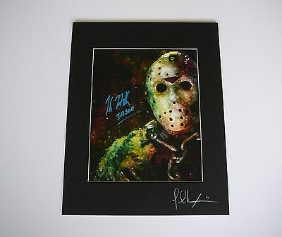 Friday the 13th Part 7 11x14 Print signed by Kane Hodder Jason Voorhees Mask