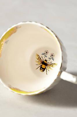 New Anthropologie Nature Table Teacup Bee FLower Yellow Cup by Lou Rota