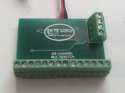 RC 4,6 & 8  Port Sequential Controlled Switch for Model Boat Cars and Planes