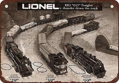 """1971 Lionel Electric Trains 10"""" x 7"""" Reproduction Metal Sign"""