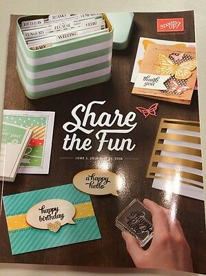 Stampin' Up! Retired IDEA BOOK & CATALOG 2015-2016 New Condition Stamp
