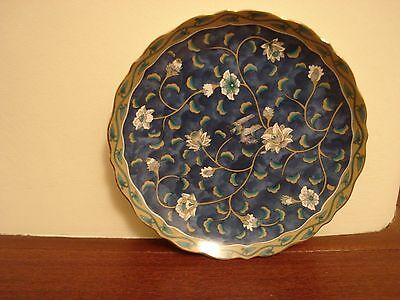 """Chinese/japanese Blue Plate With Fluted Edge 7.5"""""""