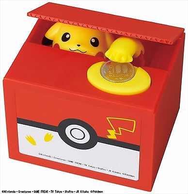 Pokemon-Go inspired Electronic Coin Money Piggy Bank box Limited Edition F/S