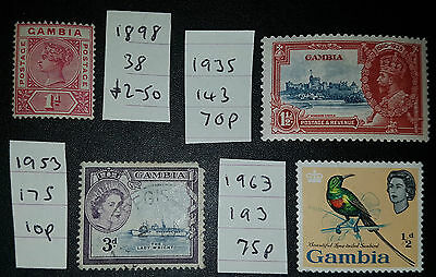 GAMBIA Mixed Selected Stamps (No1275)