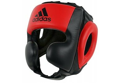 Adidas Head Guard PRO Leather Headguard MMA Kick Boxing Martial Arts M *SALE*
