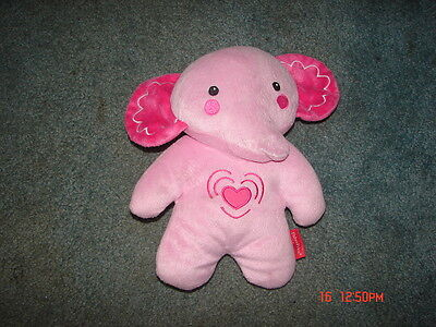 Fisher Price Pink Elephant Calming Vibrations Soother Musical Plush Cuddle Toy