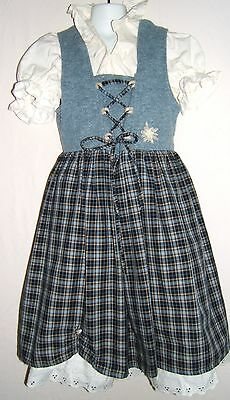 Landhaus Germany Authentic Girls Trachten Dirndl Dress Oktoberfest Sz. EU 128
