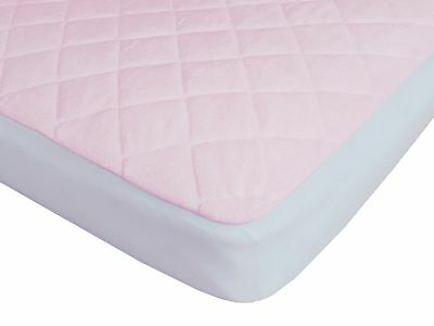 Waterproof Fitted Bamboo Crib and Toddler Mattress Protector / Pad / Cover Pink