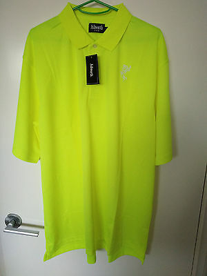 YELLOW PREMIUM USA COTTON LOGO SHIRT - SIZE MEDIUM - Free Delivery Included