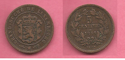 Luxembourg 1854 5 centimes coin.