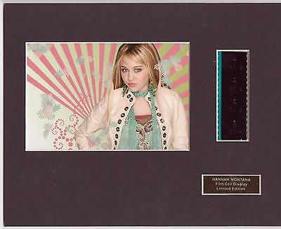 Hannah Montana Film Cell Display Limited Edition