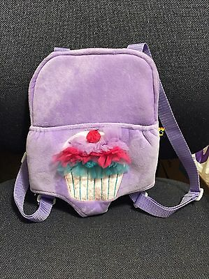 Build A Bear Purple Cupcake Design Adjustable Baby Doll Carrier Back Pack
