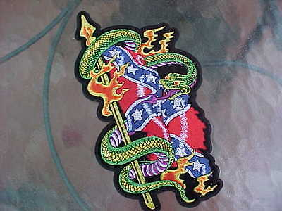 """Csa Snake Pole Jacket Patch Large 10"""" X 5"""" Nos Vintage Awesome Color!!"""
