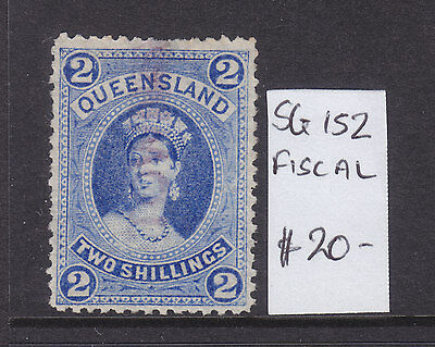 Qld  2/ Blue Large Chalon Fiscal. Sg 152