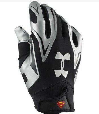 Under Armour Alter Ego Superman Football Gloves Size Large