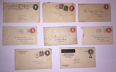 8 Embossed Covers - 1916 to 1926