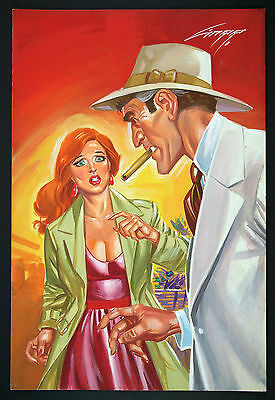 Frank Kein #473 Cover Painting by Rafael Gallur - Mexican Pulp Art