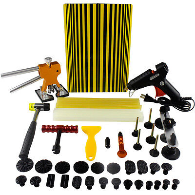 PDR Dent Lifter Paintless Repair Tool Hail Hammer Removal Puller Glue Stick Kits