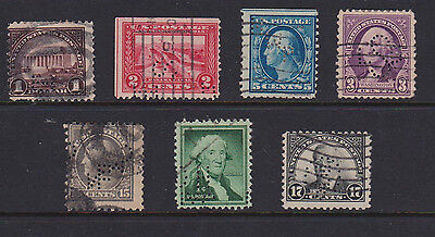 Us  Usa Old Stamps  Perfins To $1