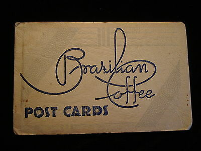Vintage Postcard Folder with 11 Views Brazilian Coffee Industry