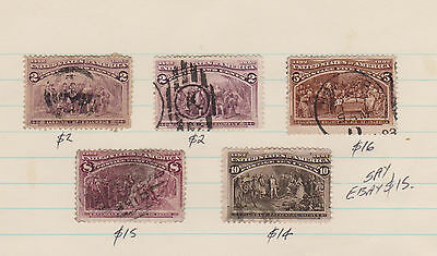 US  USA columbians  to 10c used for $15