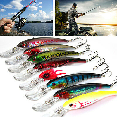 Hot 1 PC Deep Diving Sea Fishing Lure Trolling Lure Minnow Bait 16.5cm/29g