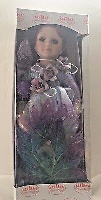 WHISPY PURPLE FAIRY Cute Doll Porcelain Collectible By Show Stoppers