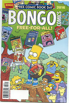 Free Comic Book Day Bongo Comics Free For All Simpsons 2016