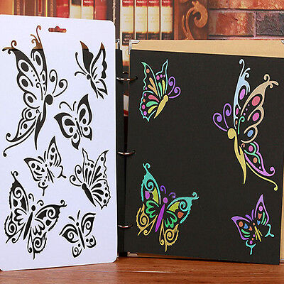 DIY Craft  Butterfly Stencils Template Painting Scrapbooking Stamps Album New